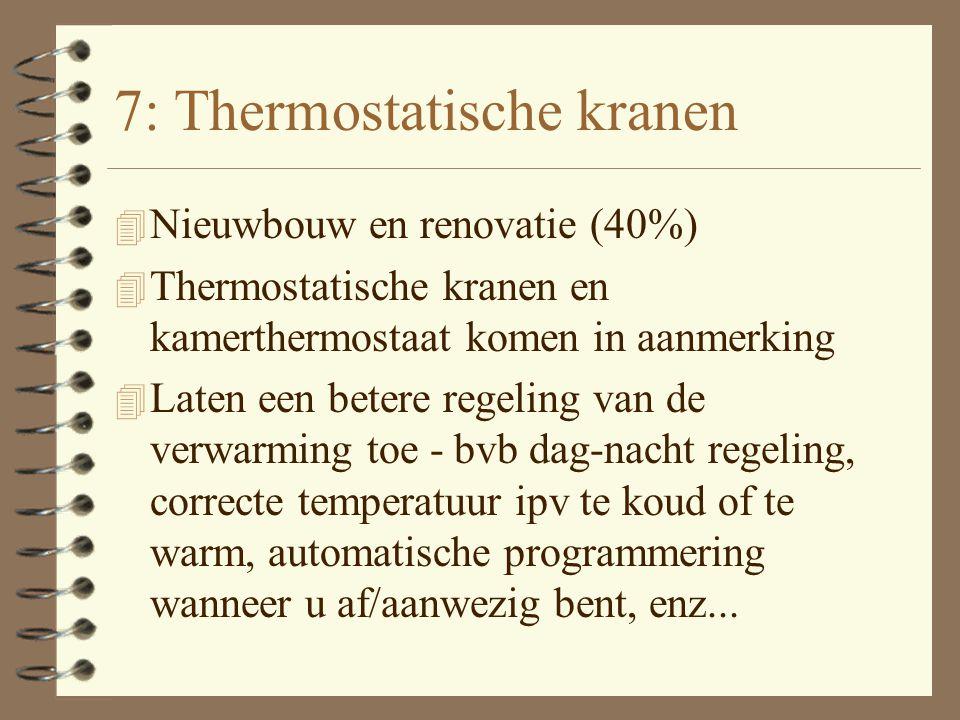 6. Warmtepomp 4 Nieuwbouw en Renovatie (40%, max 1280 euro bij nieuwbouw en renovatie) 4 Warmtepomp is milieuvriendelijk alternatief voor klassieke cv