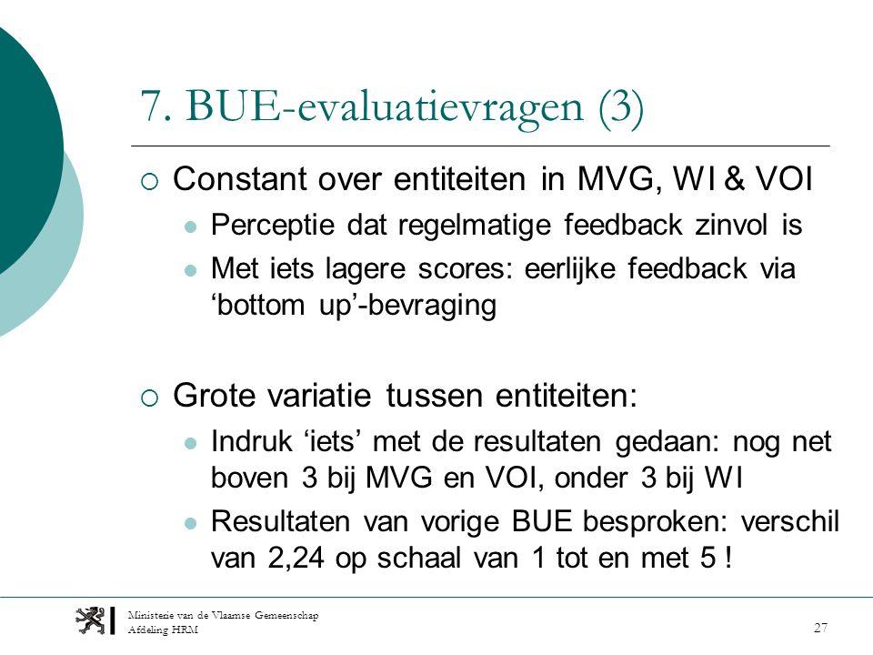 Ministerie van de Vlaamse Gemeenschap Afdeling HRM 27 7.