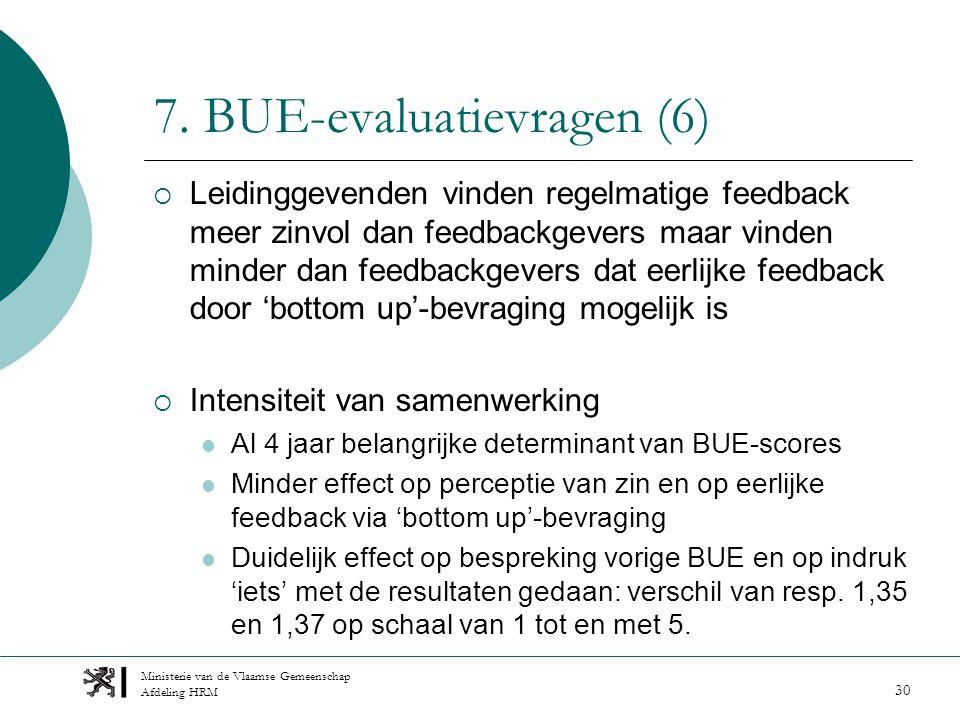 Ministerie van de Vlaamse Gemeenschap Afdeling HRM 30 7.