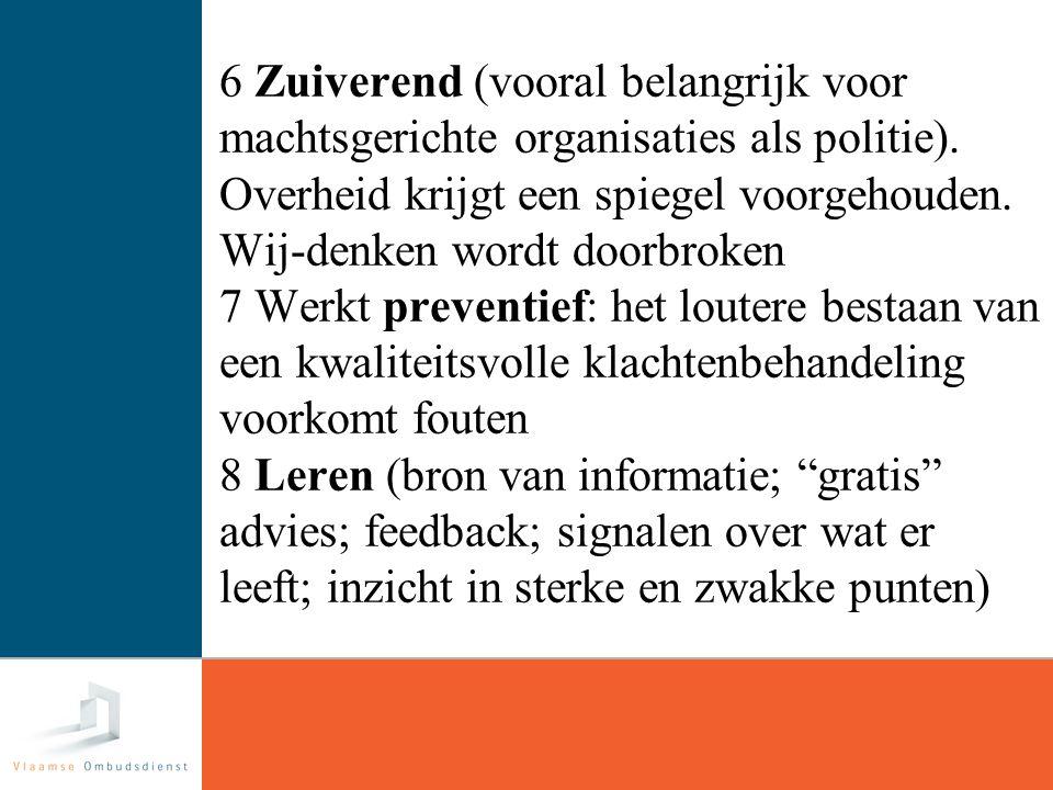 22 6 Zuiverend (vooral belangrijk voor machtsgerichte organisaties als politie).
