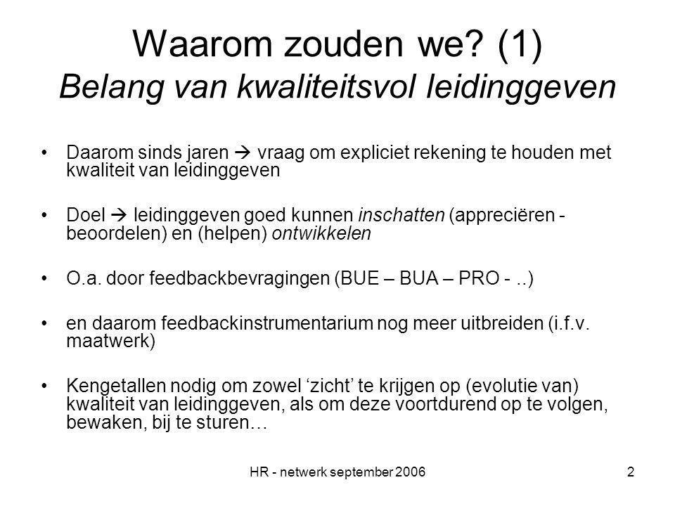 HR - netwerk september 20062 Waarom zouden we.