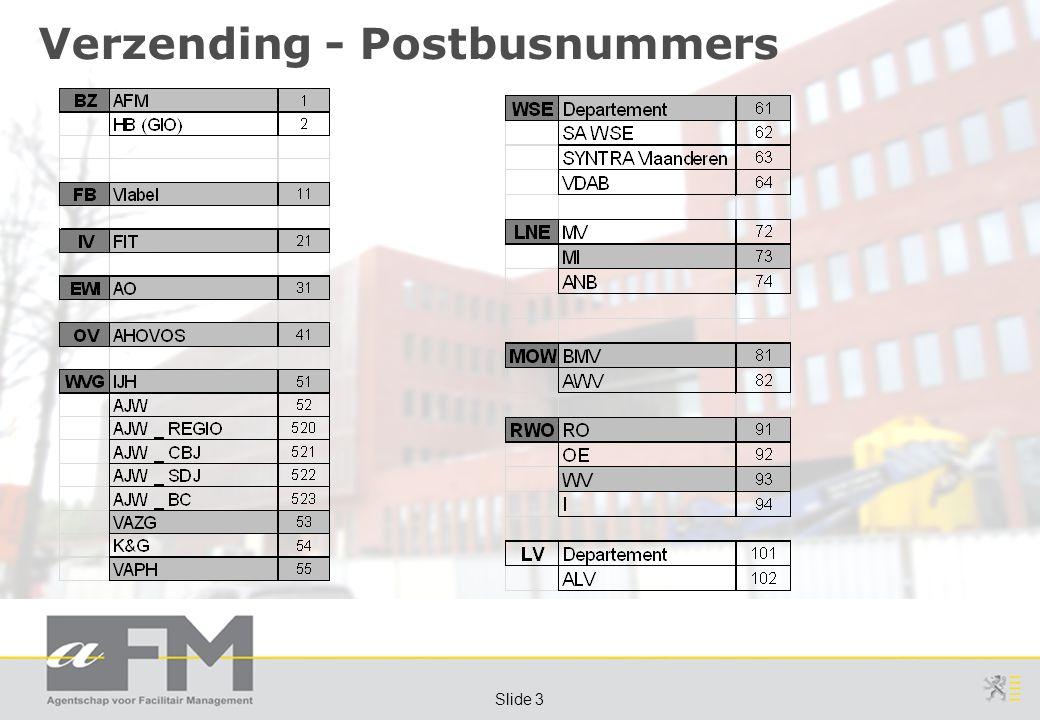 Page 3 Slide 3 Verzending - Postbusnummers