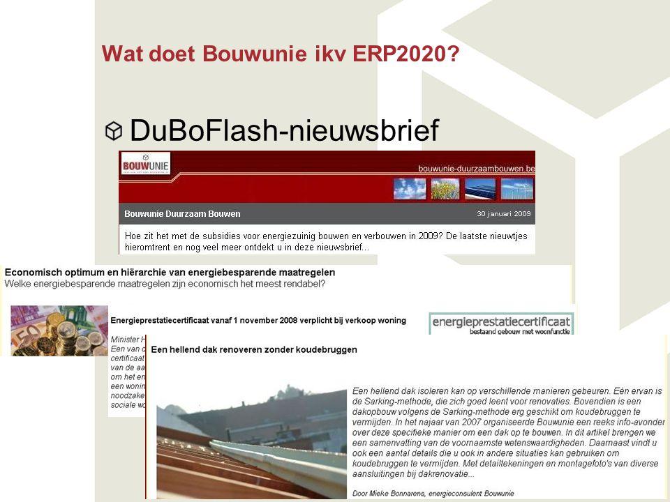 Wat doet Bouwunie ikv ERP2020? DuBoFlash-nieuwsbrief