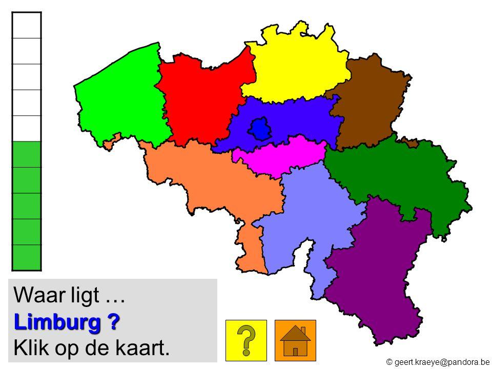 Limburg ? Waar ligt … Limburg ? Klik op de kaart. © geert.kraeye@pandora.be
