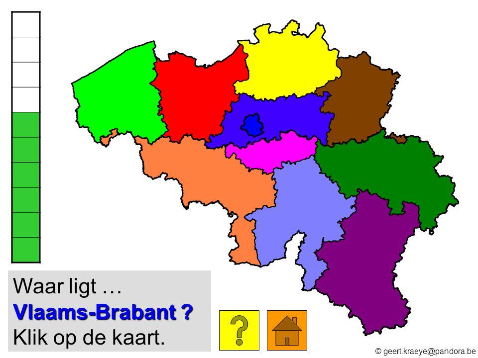 Vlaams-Brabant ? Waar ligt … Vlaams-Brabant ? Klik op de kaart. © geert.kraeye@pandora.be