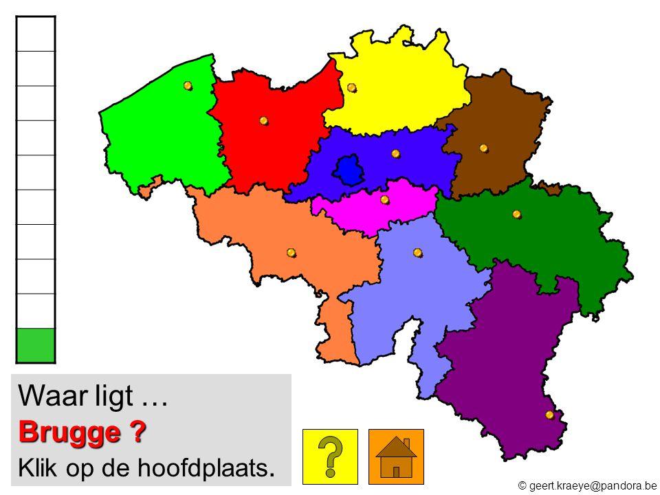 Brugge ? Waar ligt … Brugge ? Klik op de hoofdplaats. © geert.kraeye@pandora.be