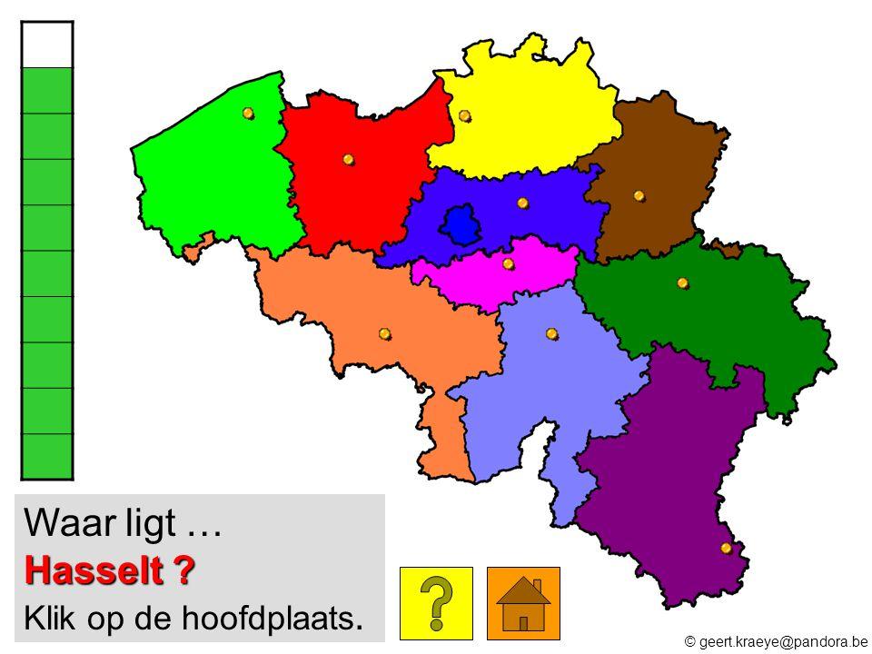 Hasselt ? Waar ligt … Hasselt ? Klik op de hoofdplaats. © geert.kraeye@pandora.be