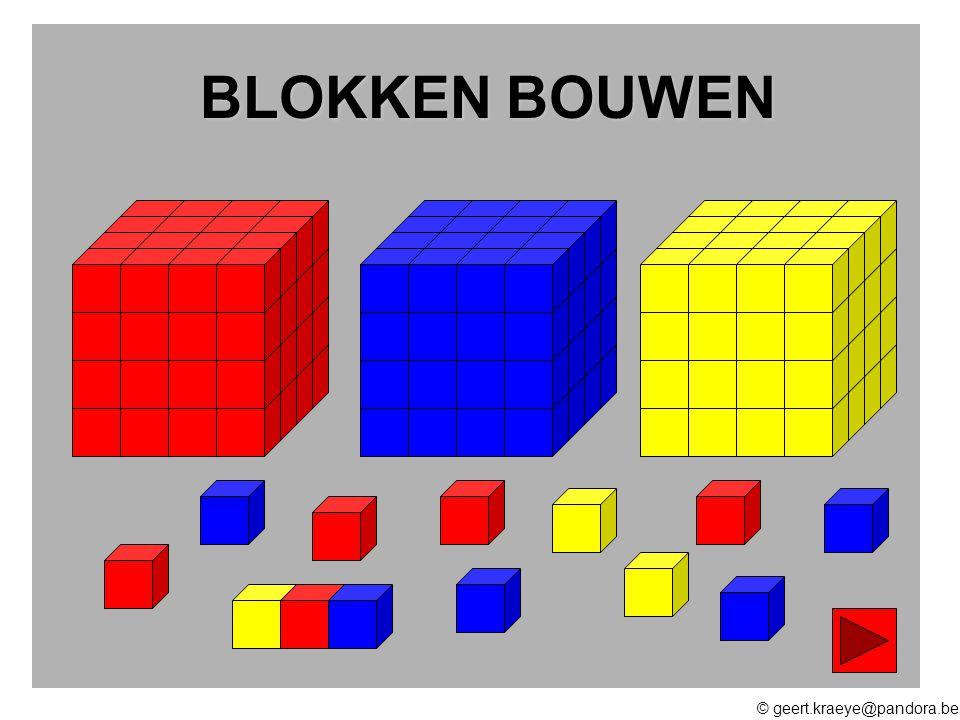 © geert.kraeye@pandora.be KIES HIER Kies het juiste grondplan Kies de juiste blokkentoren Hoeveel blokken heb ik nodig ?