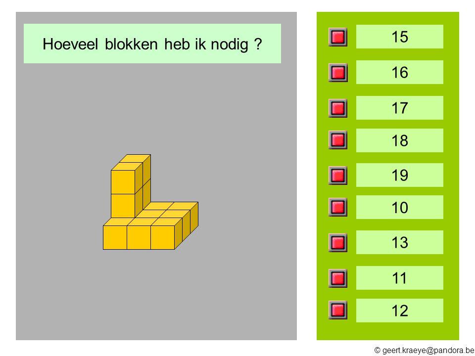 © geert.kraeye@pandora.be 15 16 17 18 19 10 13 11 12 Hoeveel blokken heb ik nodig ?