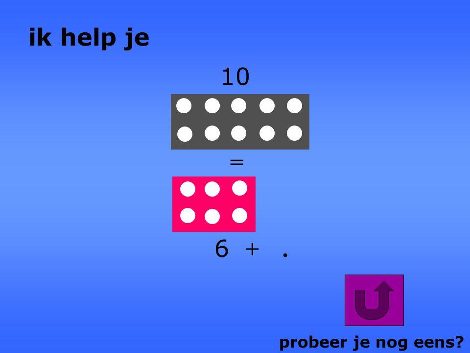 probeer je nog eens?. + 5 = 8