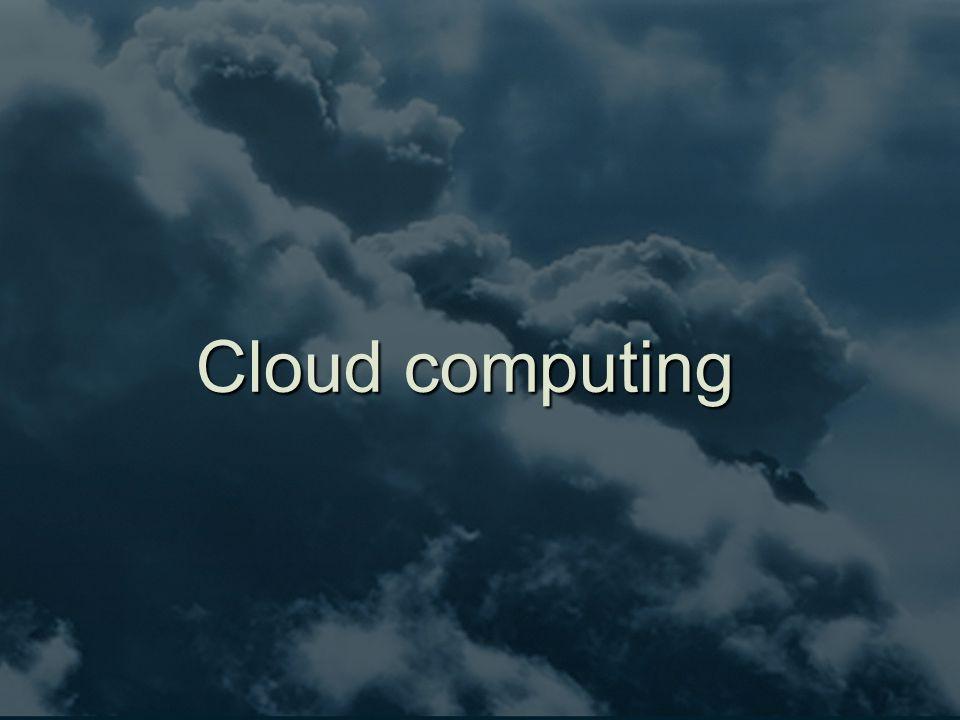 'As a service'  Software as a service (SaaS)  soms aangeduid als 'on-demand software'  'software delivery model' waarin software en bijbehorende gegevens centraal op de wolk gehost worden  Ook andere services zijn 'on-demand'