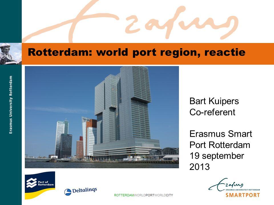 S M A R T P O R T Inkoop hoogwaardige dienstverlening door Rotterdamse havenbedrijven (mln euro, 2010).
