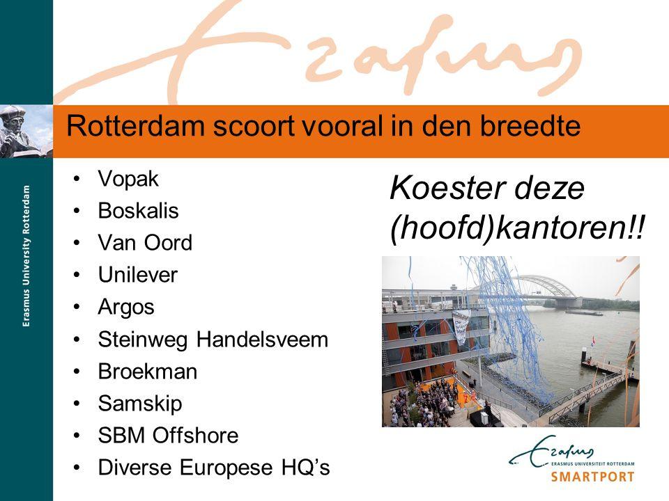 S M A R T P O R T Rotterdam scoort vooral in den breedte Vopak Boskalis Van Oord Unilever Argos Steinweg Handelsveem Broekman Samskip SBM Offshore Div