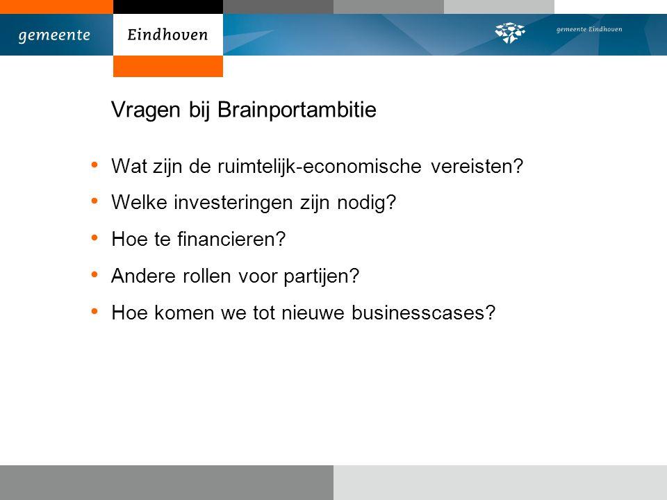 Vragen bij Brainportambitie Wat zijn de ruimtelijk-economische vereisten.