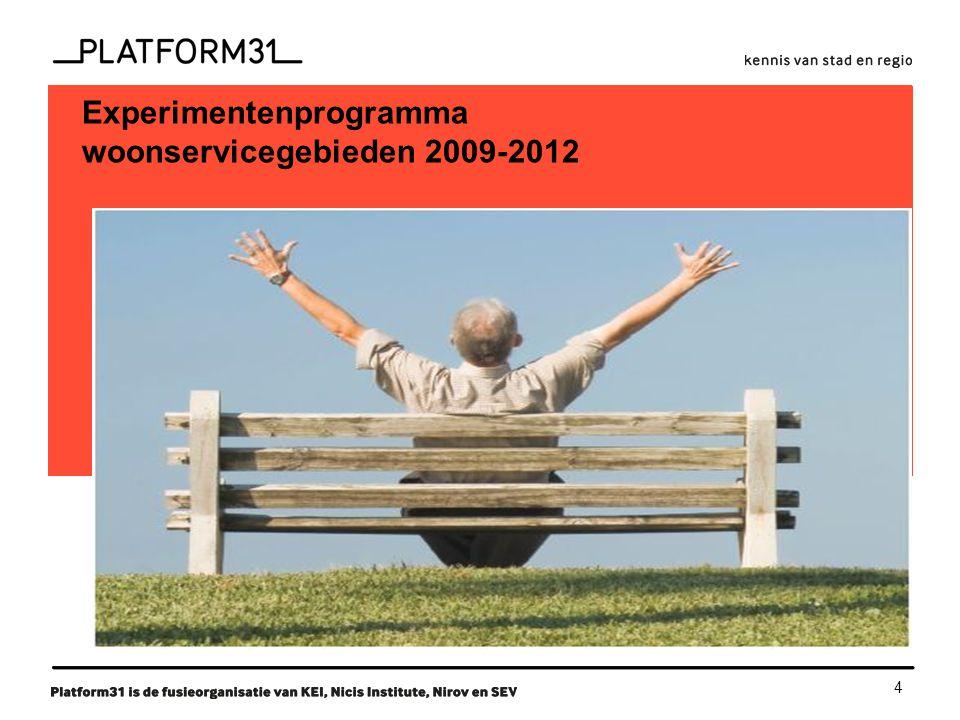 4 functie Experimentenprogramma woonservicegebieden 2009-2012