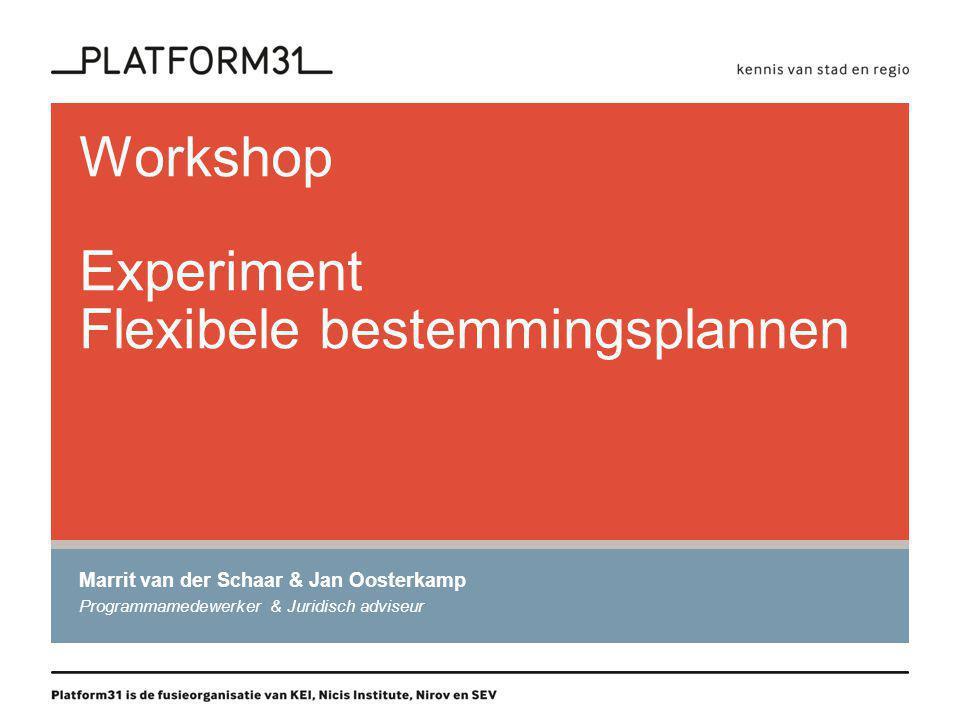 Programma -Welkom -Experimenteren: wat is dat.