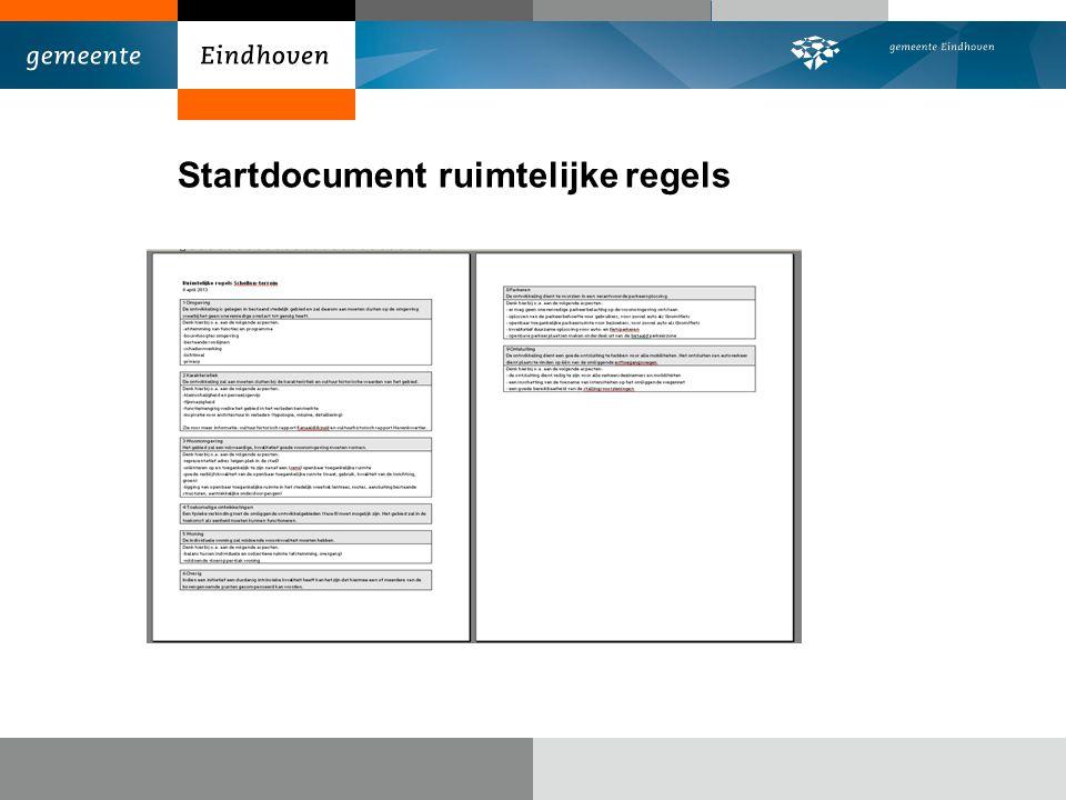 Startdocument ruimtelijke regels