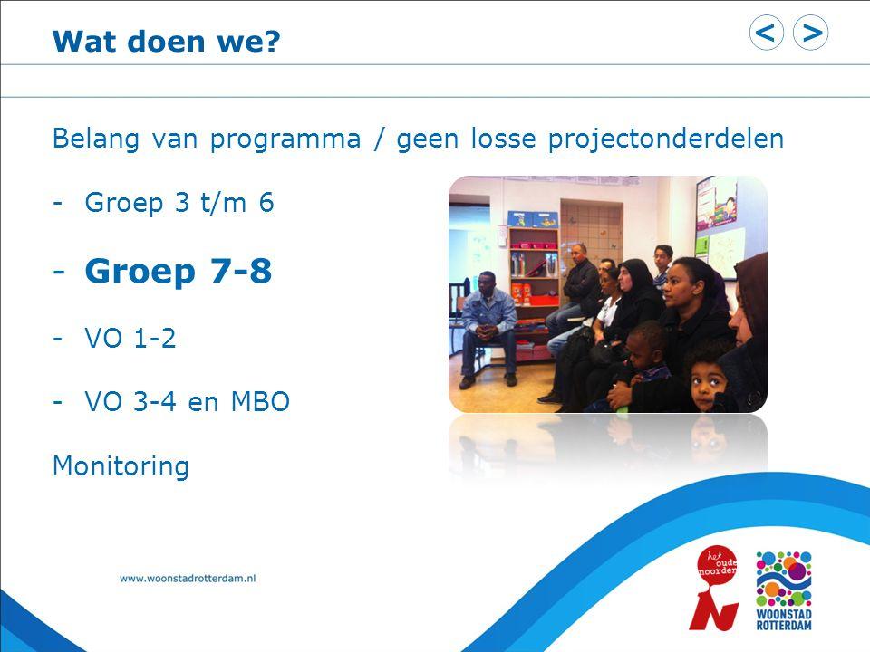 Programma groep 3 t/m 6 Doel: Kinderen ontdekken hun talent.