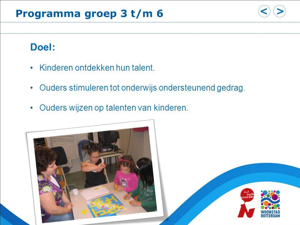 Programma groep 7 en 8 Doel: Ver voor Cito-toets bespreken van niveau en talent kinderen.