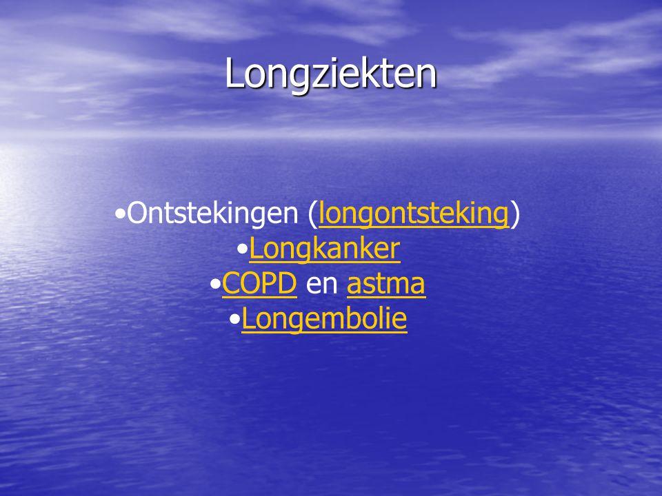 Longziekten Ontstekingen (longontsteking)longontsteking Longkanker COPD en astmaCOPDastma Longembolie