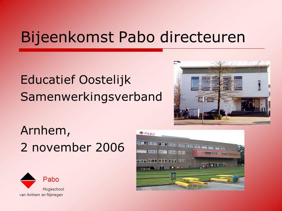Hogeschool van Arnhem en Nijmegen Pabo Over onderzoek op de pabo 1.