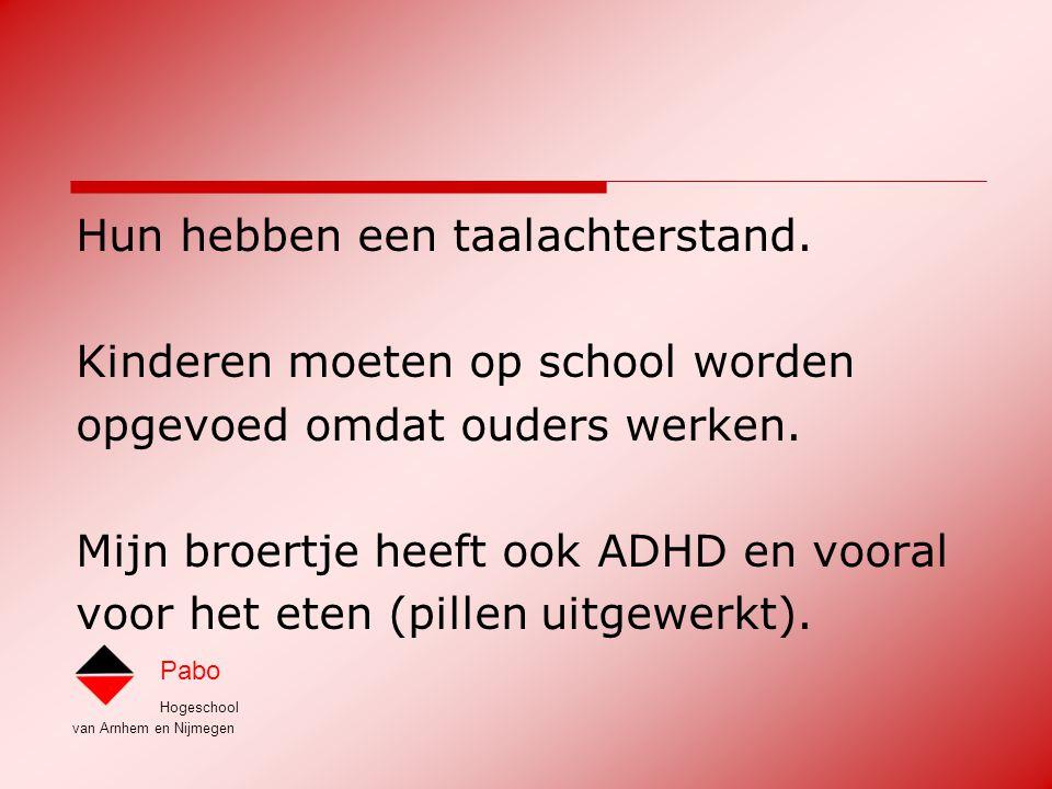 Hogeschool van Arnhem en Nijmegen Pabo Opbouw in inhoud Niveau 1: Wil en kan ik dit.