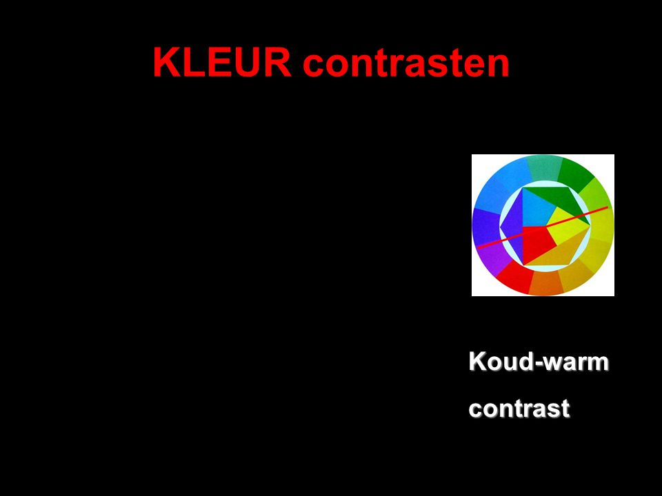 KLEUR contrasten Koud-warmcontrast