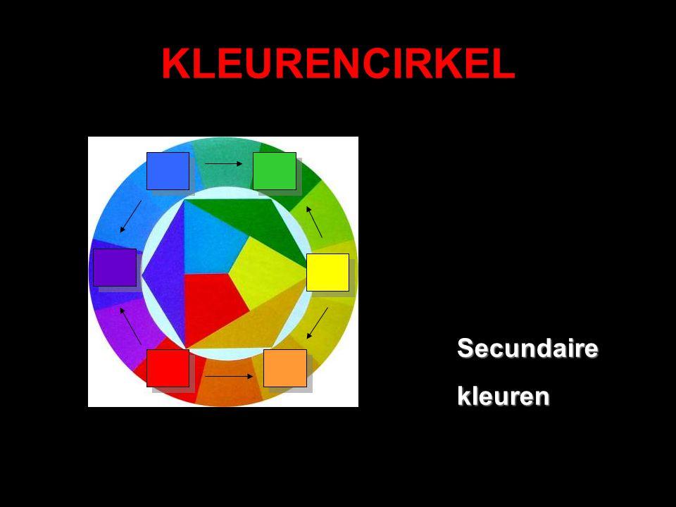 KLEURENCIRKEL Secundairekleuren