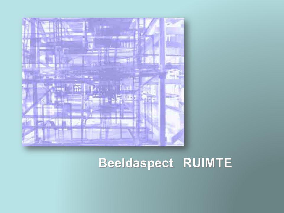 Beeldaspect RUIMTE Ruimtesuggestie hoog-laag Door ruimtesuggestie laat een kunstenaar het lijken of een plat vlak diepte heeft.