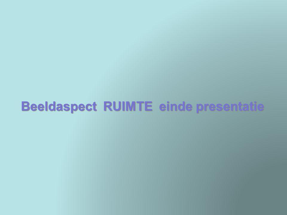 Beeldaspect RUIMTE einde presentatie