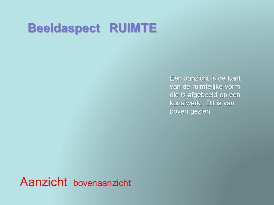 Beeldaspect RUIMTE Ruimtesuggestie verkorting Bij verkorting lijkt het of de vorm korter is dan hij in werkelijkheid is.