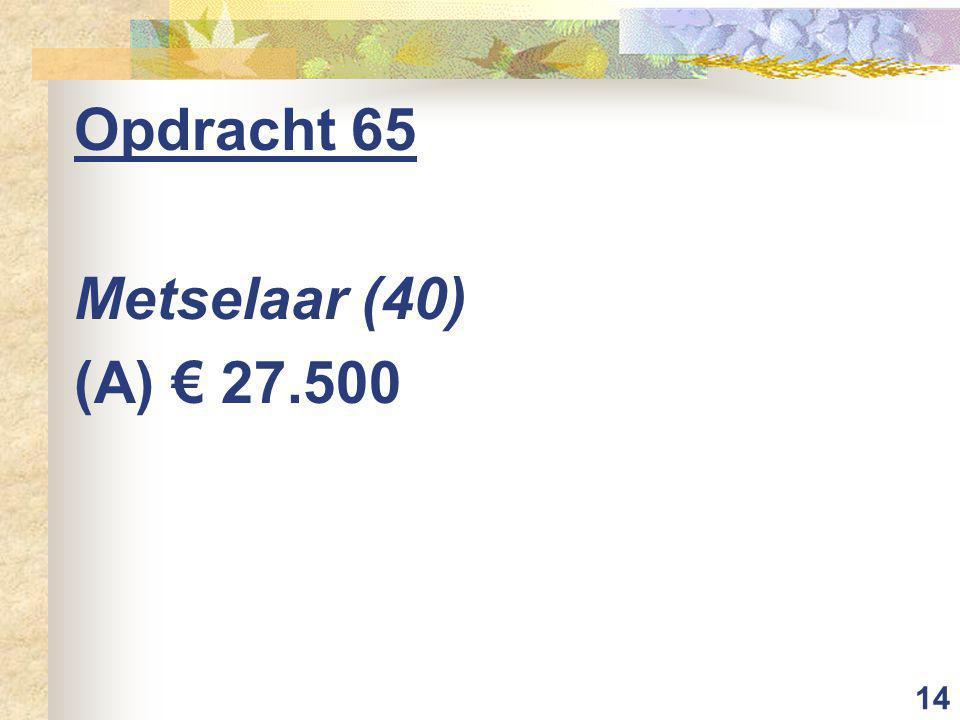 14 Opdracht 65 Metselaar (40) (A) € 27.500