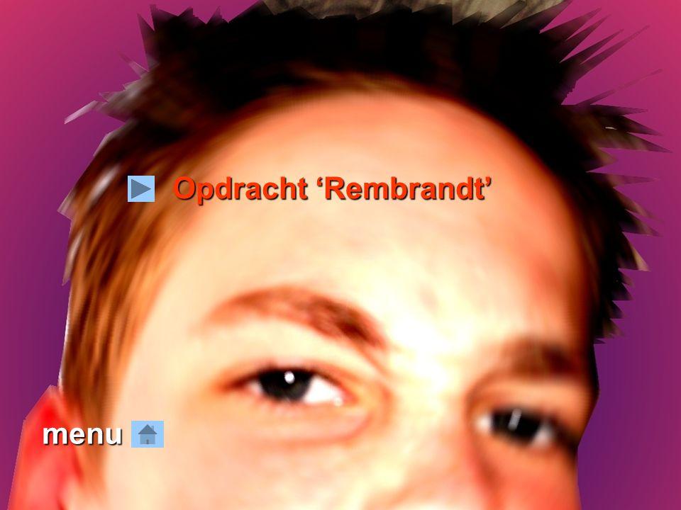 menu Opdracht 'Rembrandt'