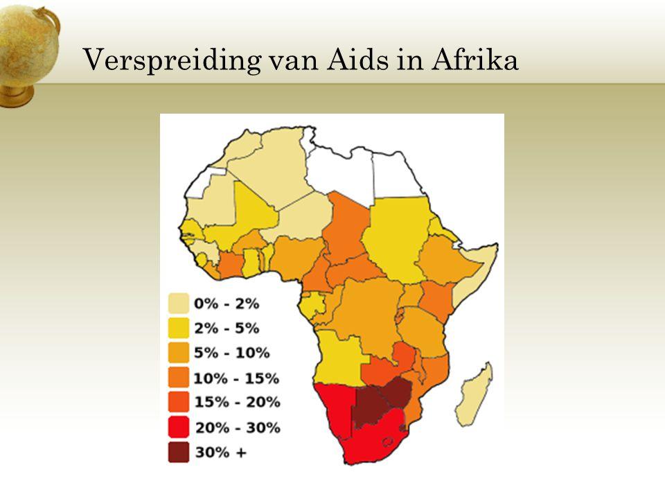 Verspreiding van Aids in Afrika