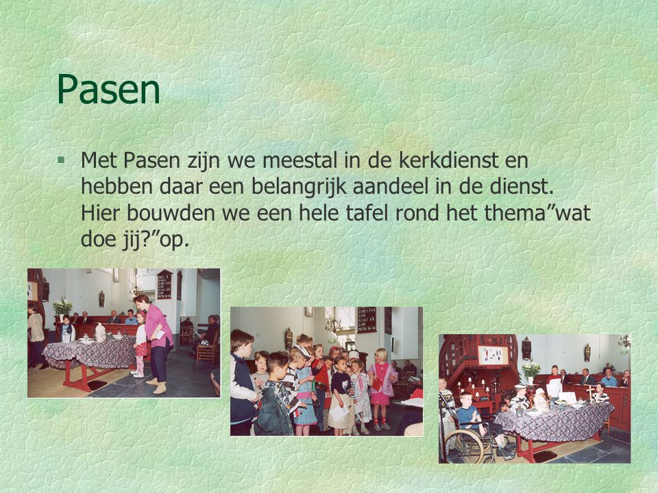 Bijzondere projecten Kerst §Met kerst hebben we altijd een project of een musical.
