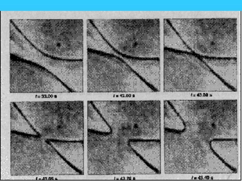 Reconnectie van strings in vloeibare kristallen