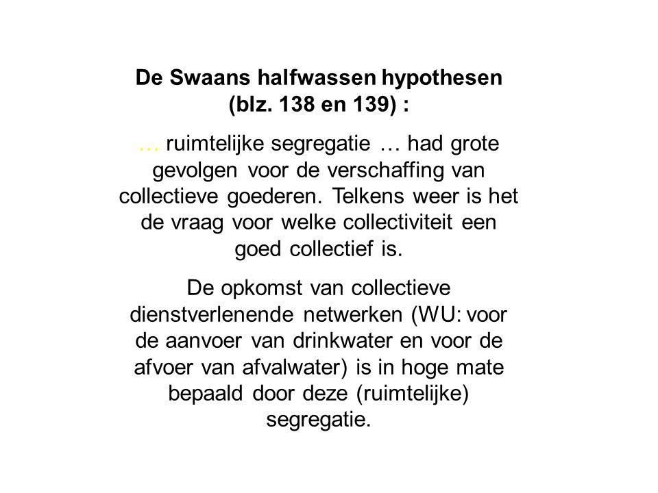 De Swaans halfwassen hypothesen (blz.