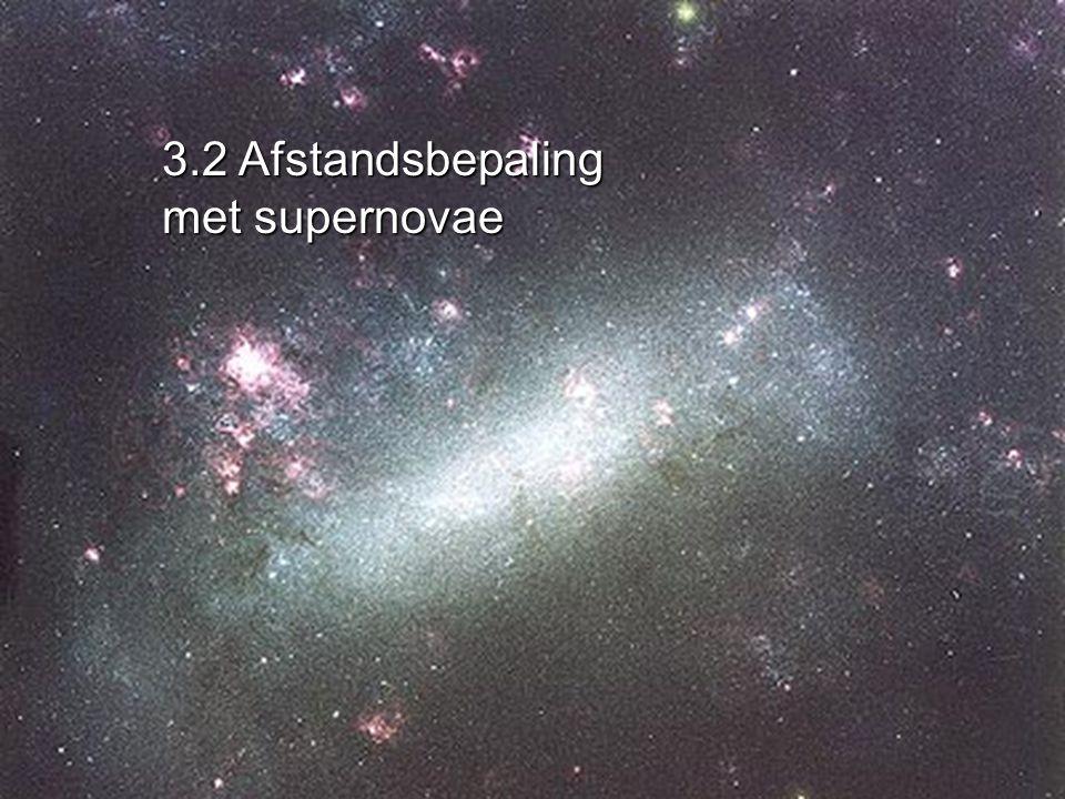 3.2 Afstandsbepaling met supernovae