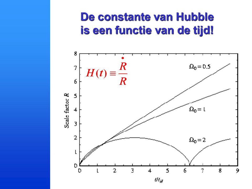 De constante van Hubble is een functie van de tijd!