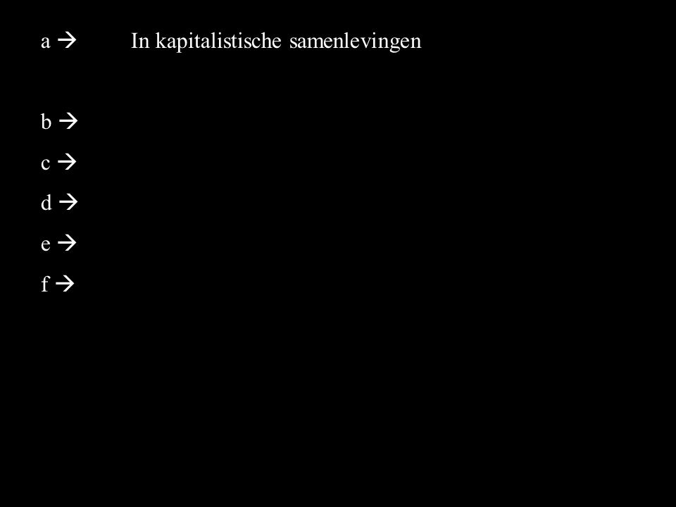 a  b  c  d  e  f  In kapitalistische samenlevingen