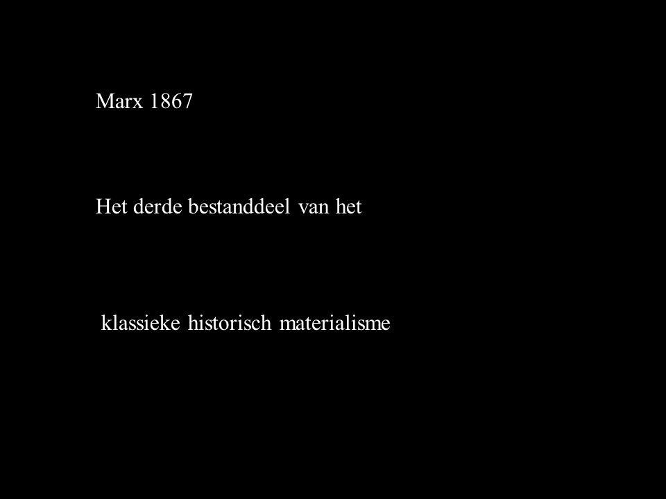 Marx 1867 Het derde bestanddeel van het klassieke historisch materialisme