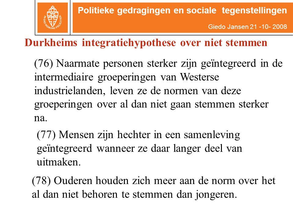(77) Mensen zijn hechter in een samenleving geïntegreerd wanneer ze daar langer deel van uitmaken.