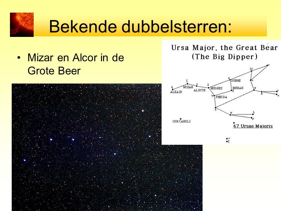 Bekende dubbelsterren: Mizar en Alcor in de Grote Beer
