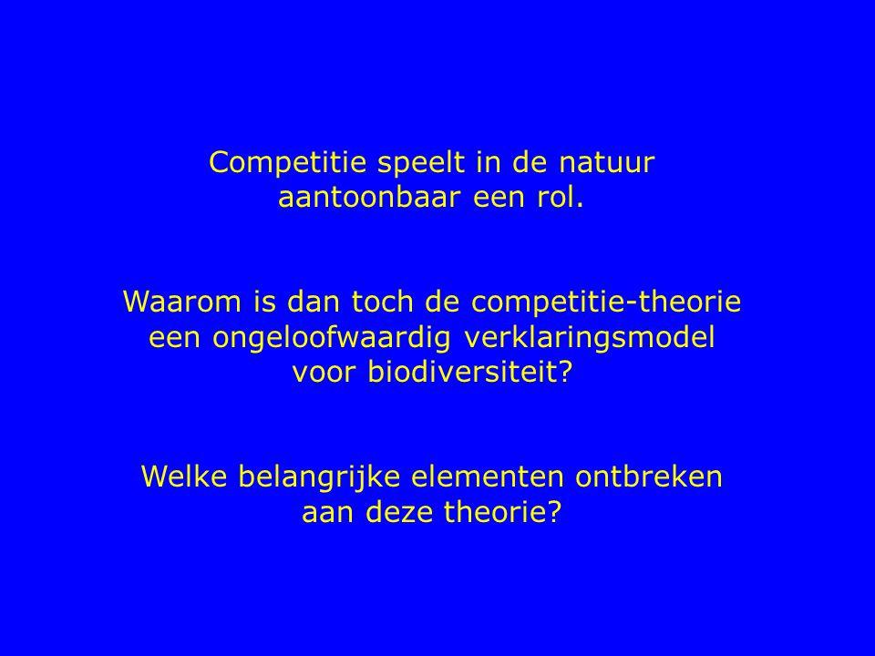 Competitie speelt in de natuur aantoonbaar een rol. Waarom is dan toch de competitie-theorie een ongeloofwaardig verklaringsmodel voor biodiversiteit?