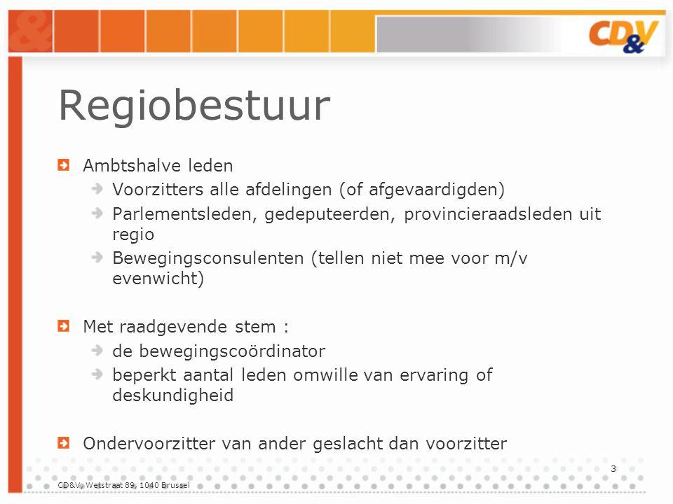 4 Provinciaal bestuur Te verkiezen : Provinciale voorzitters Rechtstreeks verkozen bestuursleden.