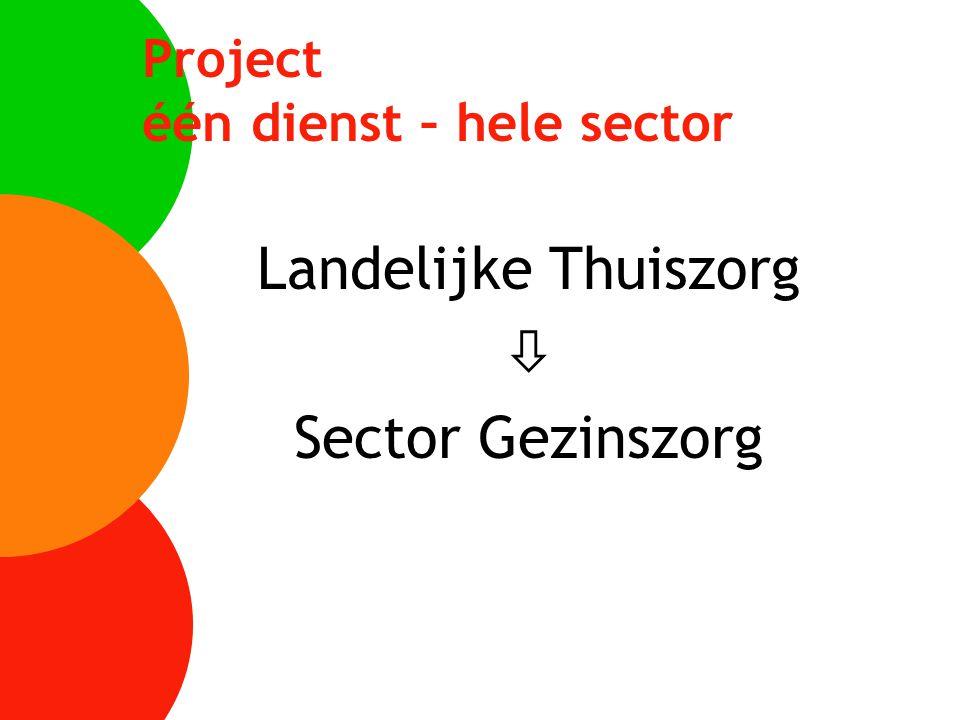 Project één dienst – hele sector Landelijke Thuiszorg  Sector Gezinszorg