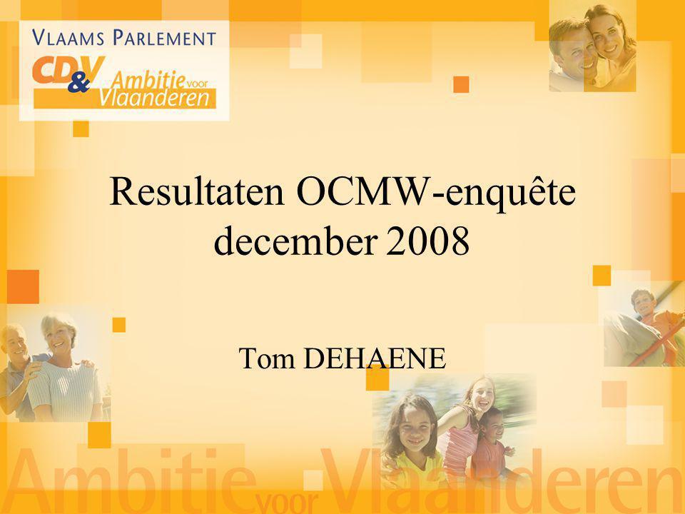 Tom DEHAENE Resultaten OCMW-enquête december 2008