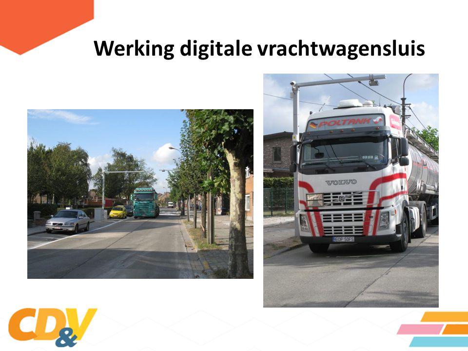 Werking digitale vrachtwagensluis