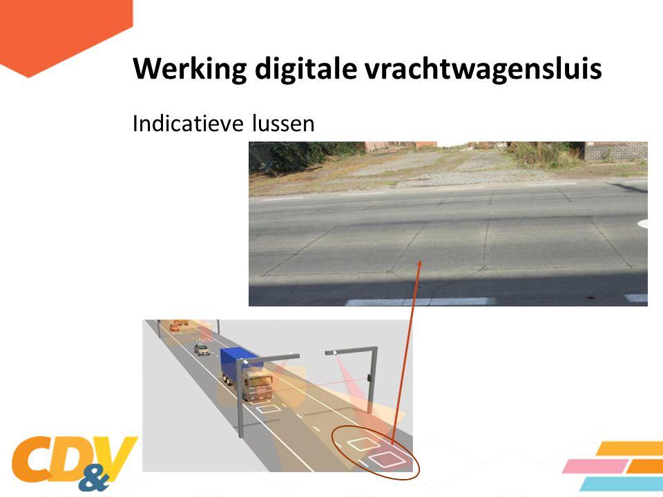 Werking digitale vrachtwagensluis Indicatieve lussen