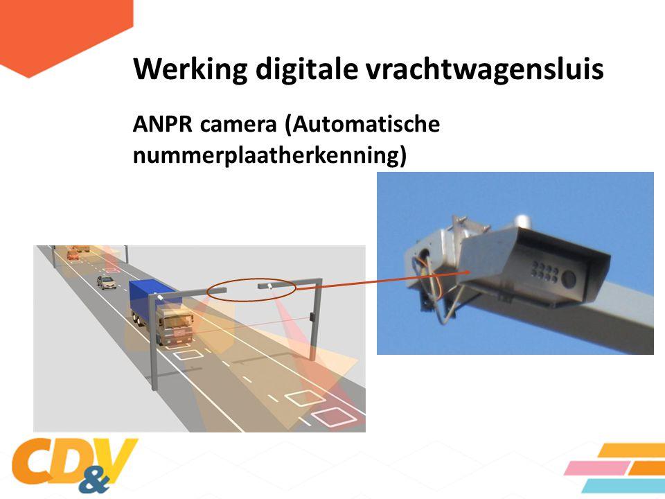 Werking digitale vrachtwagensluis CCTV camera